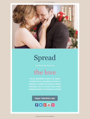 Newsletter template Valentine's Day