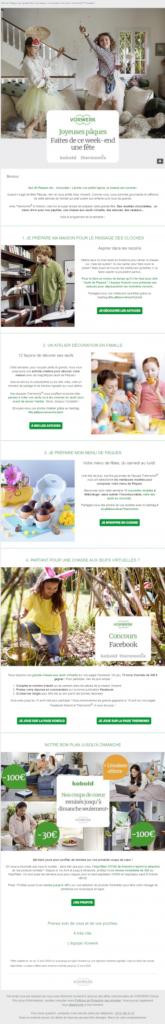 Exemple de campagne emailing Pâques Vorwerk