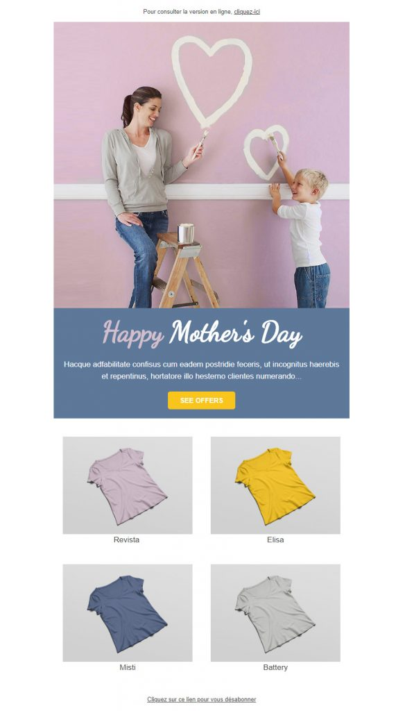Template emailing Sarbacane Mother's Day