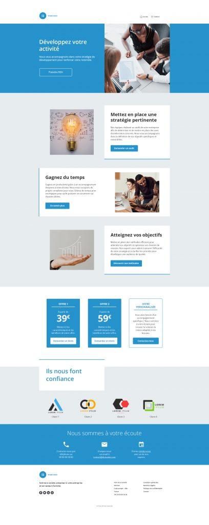 smart templates conversion BtoB
