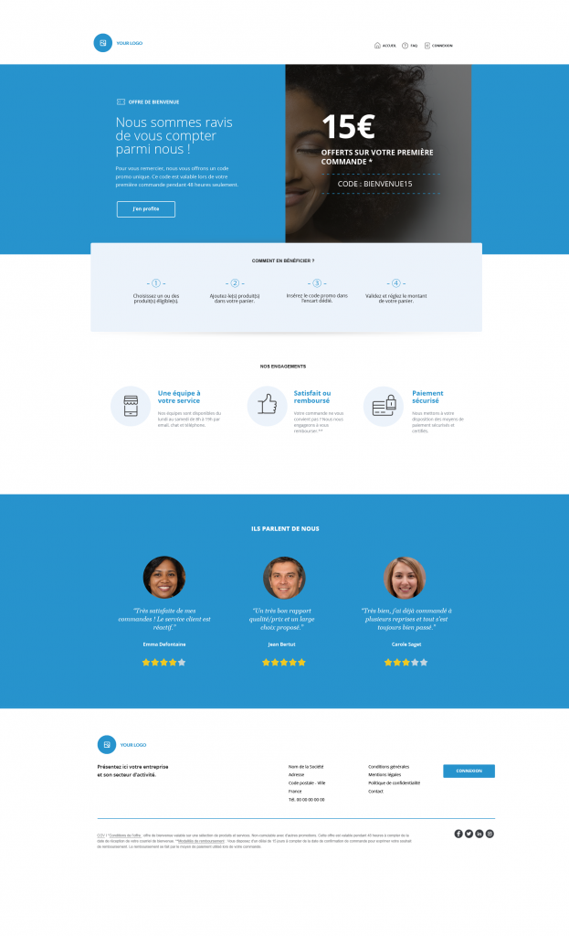 smart templates offre de bienvenue
