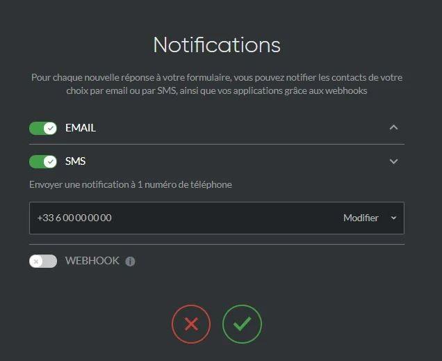 nouveautés sarbacane notifications formulaires