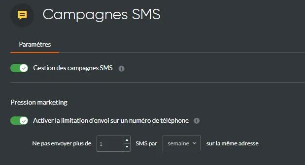 Pression marketing SMS